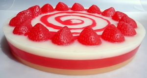 Handcrafted Glycerine Soap Cake Strawberry