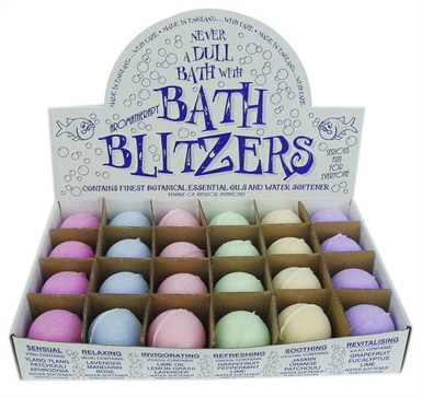 Bath Blitzers  Large 70 mm , Display box of 24 Aromatherapy collection