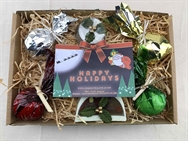 Christmas Gift Tray - Chocolate, Cinnamon & Orange, Fruit Cake & Mint Bath Blitzers