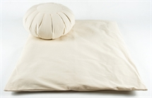 Zafu & Zabuton Meditation Set in Natural Cotton Fabrics