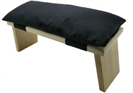 Meditation Stool/Bench Seiza + Cushion ,Organic Kapok Filled,folding legs, British Alder wood, handcrafted, 48 x 17 cm