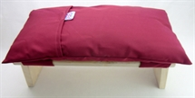 Meditation Stool Cushion , Burgundy Gabardine ,Organic Kapok Filled